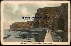ALTE POSTKARTE HELGOLAND WESTKÜSTE MIT DER LANGEN ANNA Hund dog chien postcard Ansichtskarte AK cpa