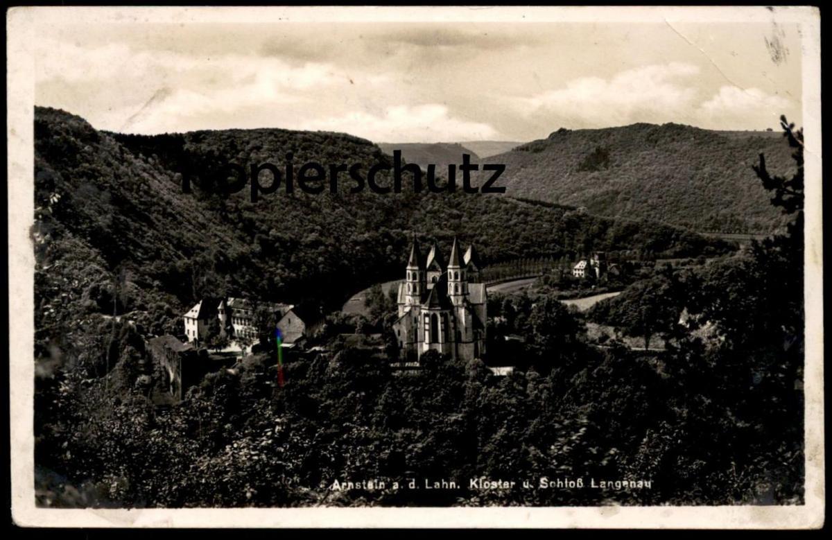 ALTE POSTKARTE ARNSTEIN A. D. LAHN KLOSTER U. SCHLOSS LANGENAU postcard Ansichtskarte AK cpa