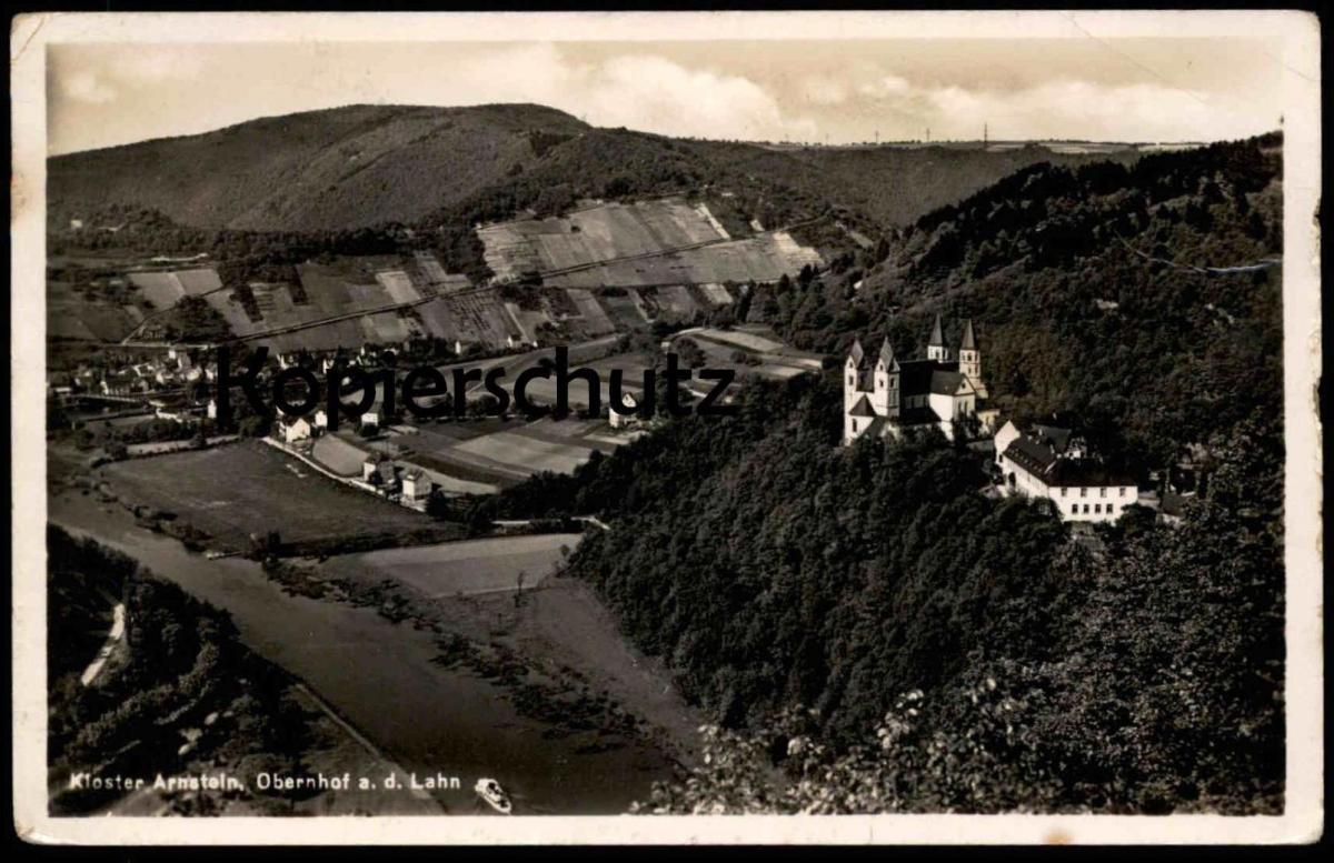 ALTE POSTKARTE KLOSTER ARNSTEIN OBERNHOF A. D. LAHN postcard Ansichtskarte AK cpa
