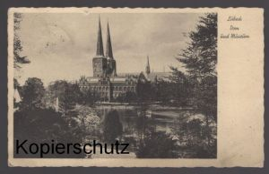 ALTE POSTKARTE LÜBECK DOM UND MUSEUM postcard Ansichtskarte AK cpa