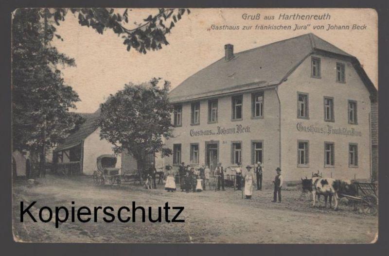 ALTE POSTKARTE GRUSS AUS HARTHENREUTH GASTHAUS ZUR FRÄNKISCHEN JURA VON JOHANN BECK Gössweinstein cpa postcard AK