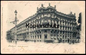 ALTE POSTKARTE STUTTGART HOTEL MARQUARDT 1898 Ansichtskarte cpa postcard AK