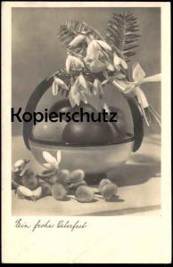 ALTE POSTKARTE EIN FROHES OSTERFEST Osterei easter postcard Ansichtskarte cpa AK