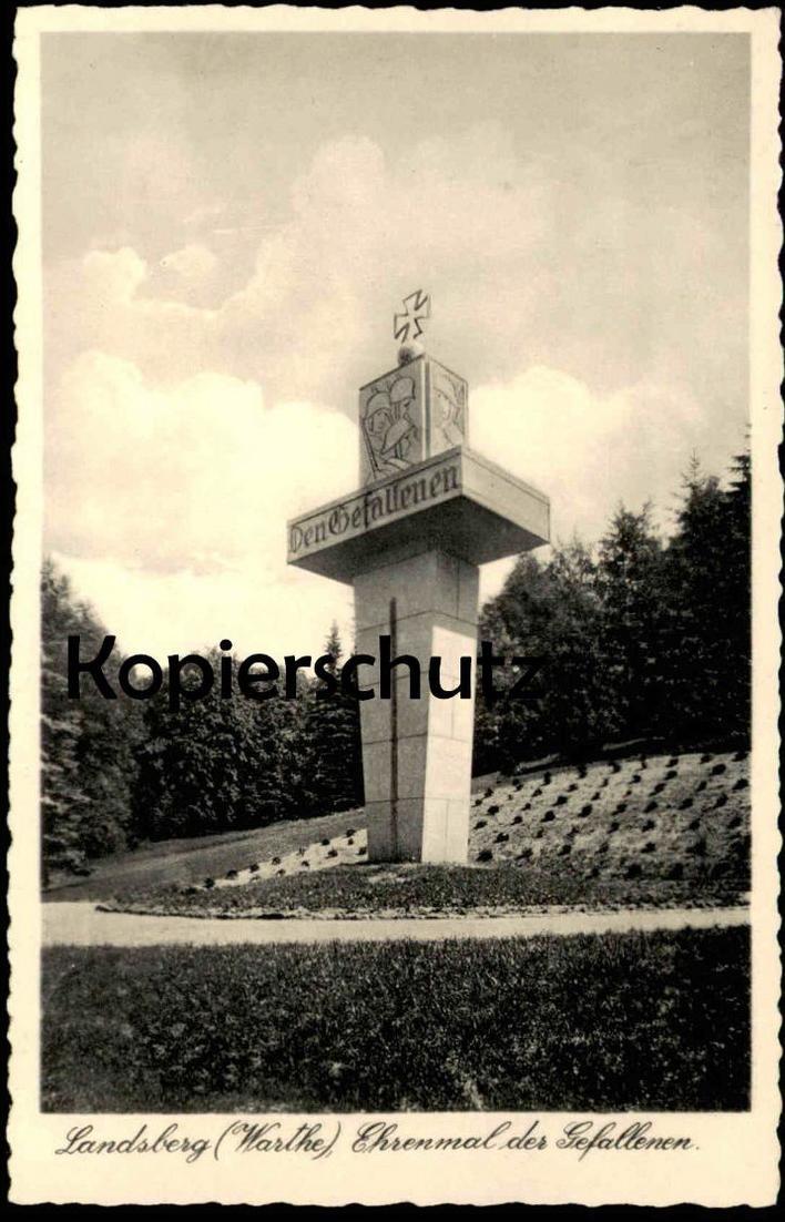 ALTE POSTKARTE LANDSBERG WARTHE EHRENMAL DER GEFALLENEN Gorzow Wielkopolski postcard Ansichtskarte cpa AK