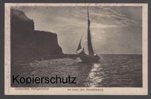 ALTE POSTKARTE OSTSEEBAD HEILIGENHAFEN AM HOHEN UFER ABENDSTIMMUNG Doplatit 500 100 postcard Ansichtskarte cpa AK