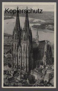 ALTE POSTKARTE DER KÖLNER DOM FLIEGERAUFNAHME VON S.-W. Köln Cöln 1940 Ansichtskarte cpa postcard AK