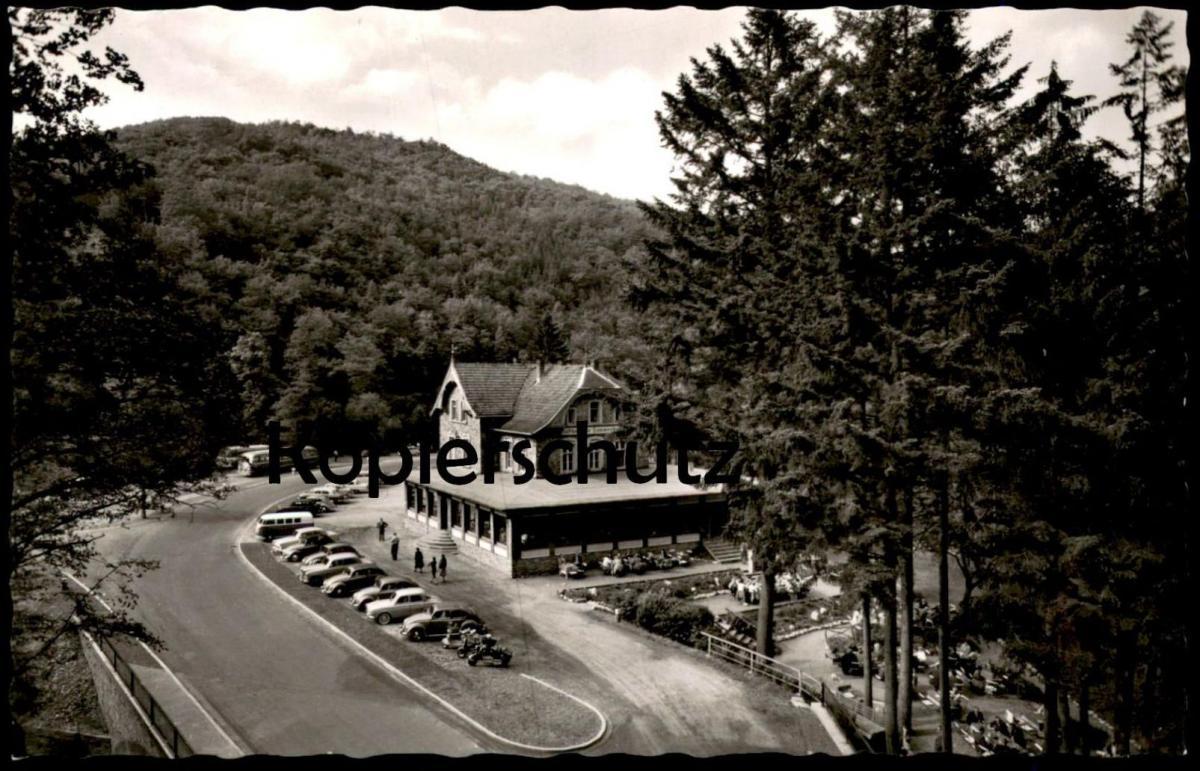 ÄLTERE POSTKARTE WALD-GASTHOF UND PENSION KAMMERBURG IM WISPERTAL Vespa Motorroller Roller Ansichtskarte cpa postcard AK