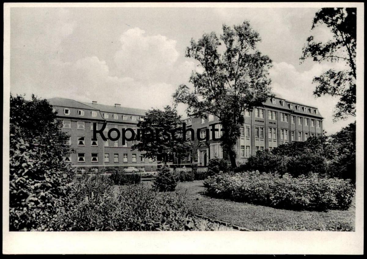 ältere Postkarte Krefeld Krankenhaus Maria Hilf Oberdiessemerstrasse