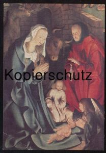 ÄLTERE POSTKARTE NIKOLAIKIRCHE KALKAR KIRCHE DETAIL DES HOCHALTARS MARIA JOSEPH JESU Josef Jesus church église Ochs Esel