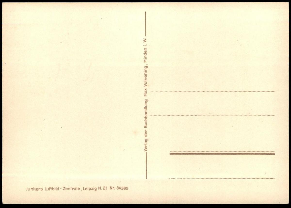 ALTE POSTKARTE MINDEN FLIEGERAUFNAHME JUNKERS LUFTBILD VOGELSCHAU Ansichtskarte AK postcard cpa 3