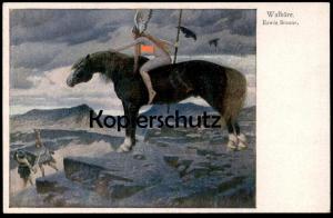 ALTE POSTKARTE WALKÜRE ERWIN BRAUNE NACKTE FRAU PFERD FEMME NU nue nus nude woman nudity horse cheval nackt postcard cpa
