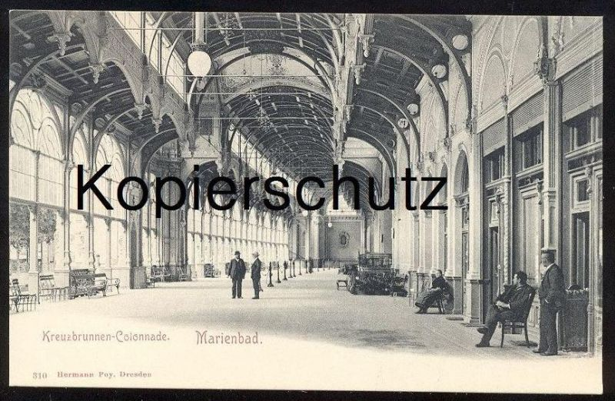 ALTE POSTKARTE MARIENBAD KREUZBRUNNEN-COLONNADE Colonade Marianske Lazne Ceska Czech Republic cpa postcard Ansichtskarte