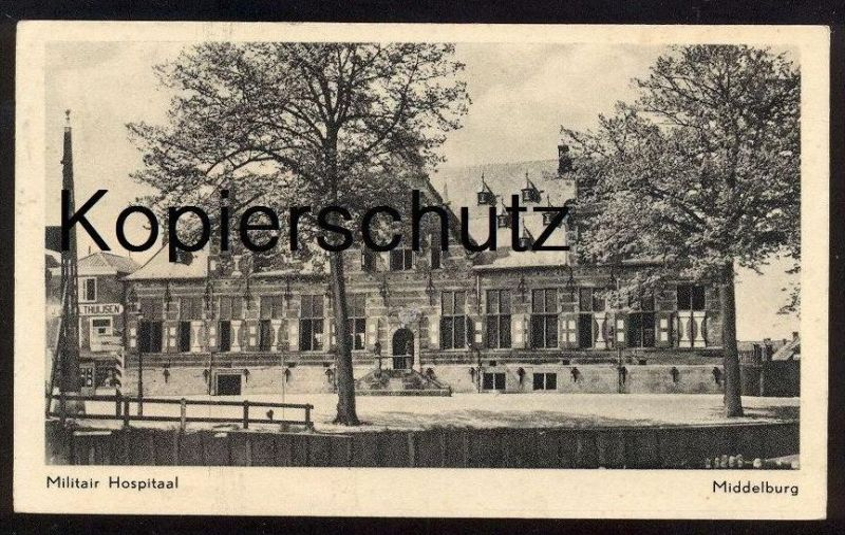 ALTE POSTKARTE MIDDELBURG MILITAIR HOSPITAAL Hospital Krankenhaus hopital Thuijsen Nederland cpa postcard Ansichtskarte