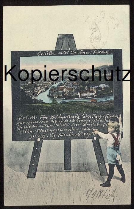 ALTE POSTKARTE GRUSS AUS BADEN AARGAU TAFEL tableau board Kind child enfant Schweiz Suisse Swiss postcard montage photo