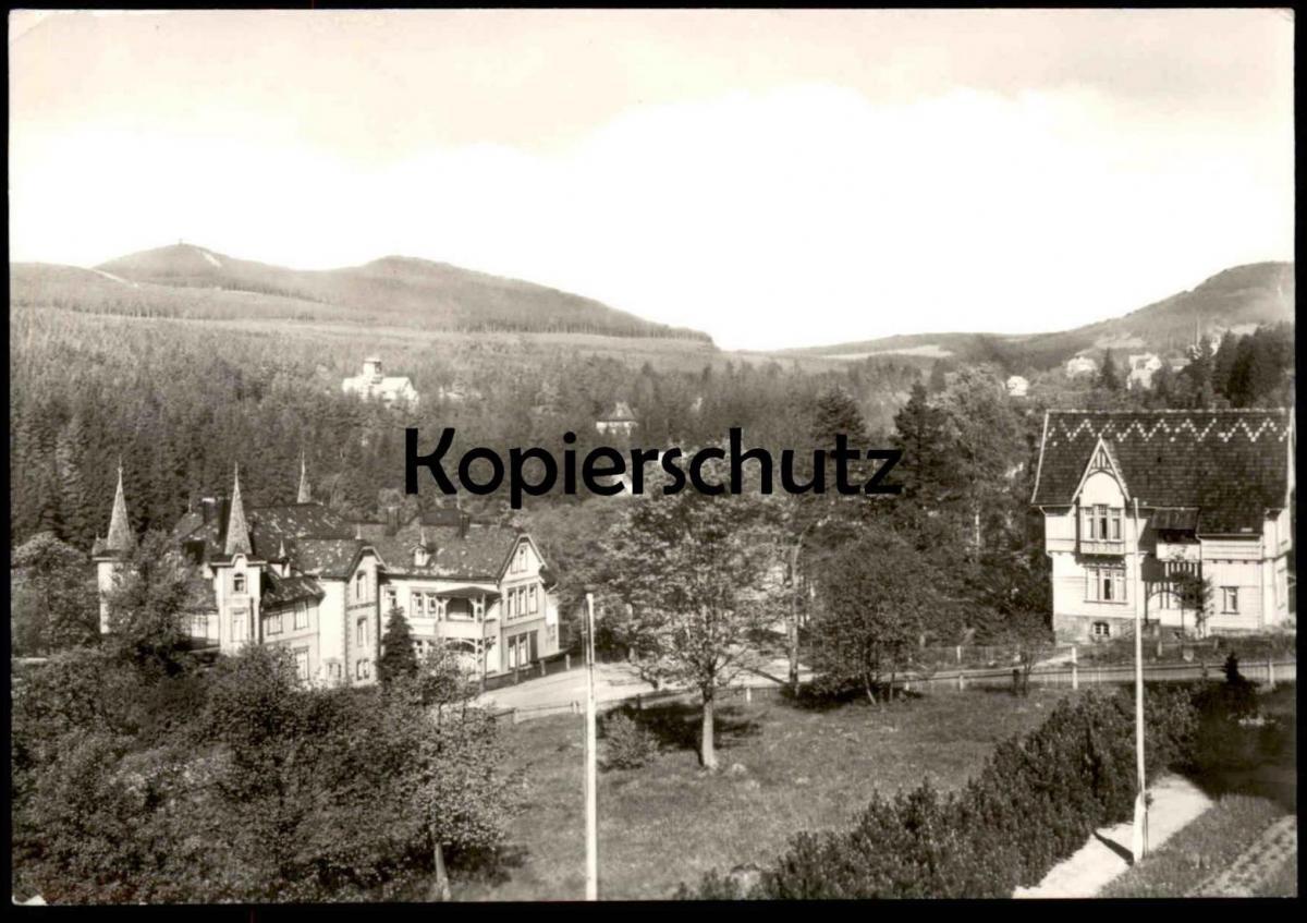 ÄLTERE POSTKARTE SCHIERKE HARZ BLICK VOM HOTEL HEINRICH HEINE AK Ansichtskarte cpa postcard