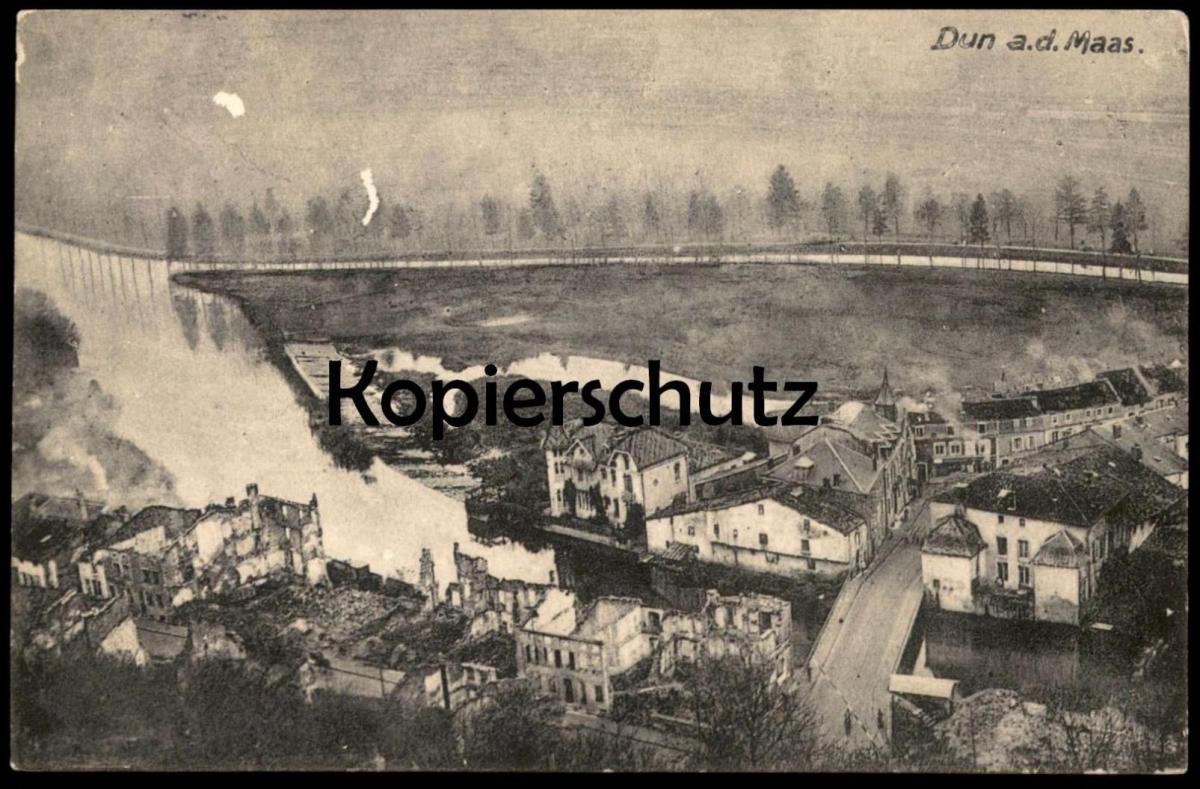 ALTE POSTKARTE DUN A. D. MAAS SUR MEUSE FELDPOST 1916 Stempel Etapp.-Kraftw.-Kol. 2 Ansichtskarte postcard cpa AK