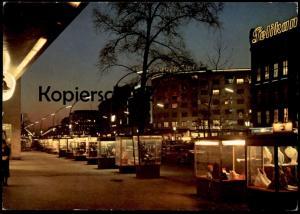 ÄLTERE POSTKARTE BERLIN KURFÜRSTENDAMM BEI NACHT HOTEL KEMPINSKI PELIKAN Kudamm at night AK Ansichtskarte postcard cpa