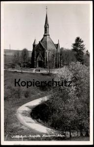 ÄLTERE POSTKARTE NIEDERMÜHLEN ASBACH WALLFAHRTS-KAPELLE 1951 STEMPEL ALTENHOFEN WESTERWALD AK Ansichtskarte cpa chapel