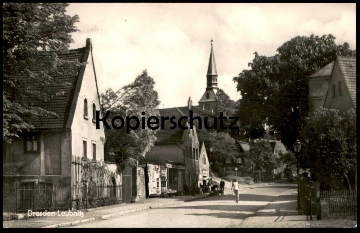 ÄLTERE POSTKARTE DRESDEN-LEUBNITZ-NEUOSTRA MIT LUFTPOST DDR IN DIE USA erkennbar Samen Wend cpa postcard Ansichtskarte