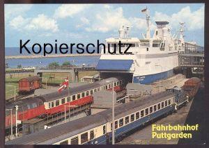 POSTKARTE FEHMARN EISENBAHN LOKOMOTIVE VERM. V162 217 V60 DB260 SCHIFF KARL CARSTENS loco locomotive train railway Zug