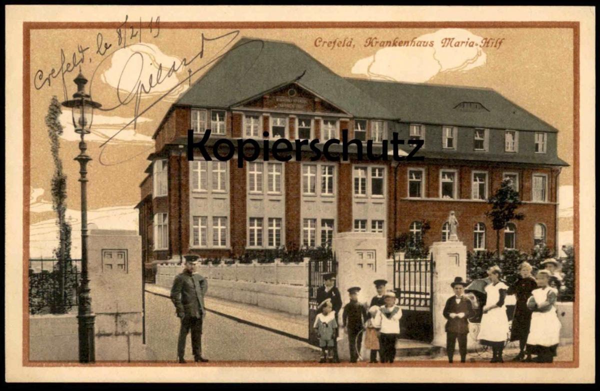 Alte Postkarte Crefeld Krankenhaus Maria Hilf Krefeld Hospital