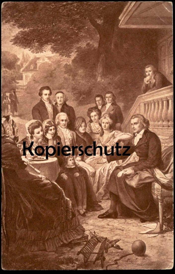 ALTE POSTKARTE FRIEDRICH SCHILLER IN WEIMAR GEMÄLDE VON W. LINDENSCHMIT Dichter poet poète cpa postcard AK Ansichtskarte