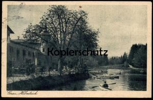ALTE POSTKARTE GRAZ HILMTEICH 1924 Austria Autriche Österreich postcard cpa AK Ansichtskarte Briefmarke 500 Schilling