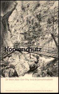 ALTE POSTKARTE BÄRENSCHÜTZSCHLUCHT GRAZER ALPEN-CLUB GRAZ Pernegg Bärenschützklamm Austria Autriche cpa postcard