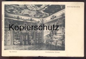 ALTE POSTKARTE WÜRZBURG KÖNIGLICHES SCHLOSS VENETIANISCHES ZIMMER venitian room chambre vénetien chateau castle cpa AK