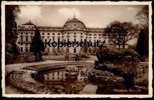 ALTE POSTKARTE WÜRZBURG RESIDENZ 1931 Teich Brunnen fountain fontaine monument cpa postcard AK Ansichtskarte