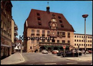 ÄLTERE POSTKARTE HEILBRONN FORD TAUNUS OPEL BMW MERCEDES TAXI CHAUFFEUR Droschken Taxen Station cab postcard cpa