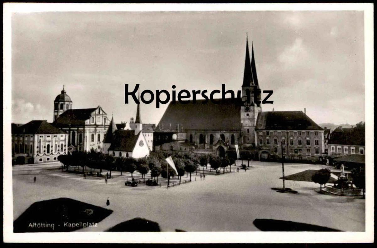 ALTE POSTKARTE ALTÖTTING KAPELLPLATZ BAYERN cpa postcard Ansichtskarte AK Altoetting