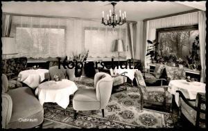 ÄLTERE POSTKARTE ALTASTENBERG CLUBRAUM CLUB HOTEL MÖRCHEN 800 m. ASTENBERG WINTERBERG Winter cpa postcard Ansichtskarte