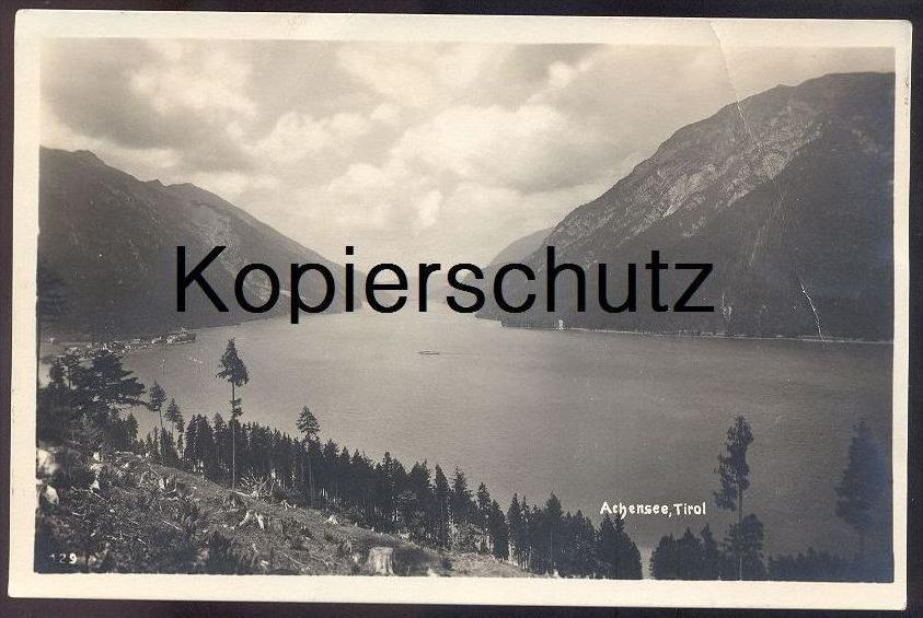 ALTE POSTKARTE ACHENSEE TIROL 1927 Stempel Hotel Scholastika sowie Maurach Eben Österreich Austria Autriche cpa AK