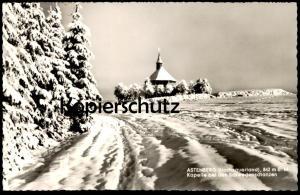 ÄLTERE POSTKARTE ASTENBERG KAPELLE BEI DEN SCHWEDENSCHANZEN HOTEL MÖRCHEN 842 m. ALTASTENBERG WINTERBERG Winter cpa AK