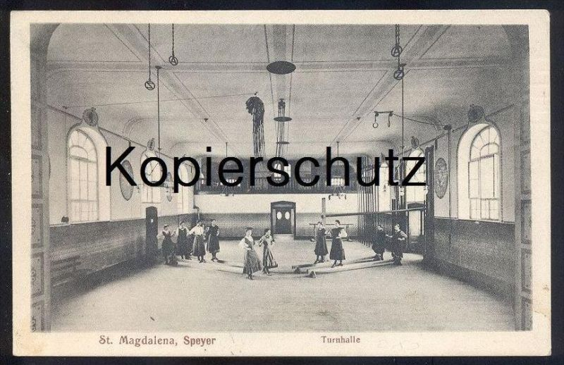 alte postkarte st magdalena speyer am rhein turnhalle halle de gymnastique gym cpa postcard ak. Black Bedroom Furniture Sets. Home Design Ideas