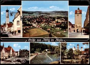 ÄLTERE POSTKARTE ISNY IM ALLGÄU MEHRBILD 1971 Bad bath See Verlag Buchhandlung Kissling cpa postcard AK Ansichtskarte