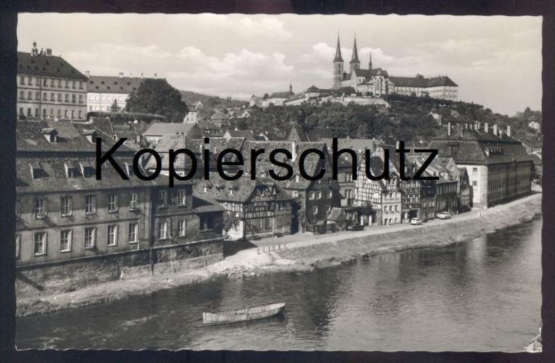 ÄLTERE POSTKARTE BAMBERG MICHELSBERG FIAT OPEL BORGWARD Autos Auto car cars cpa postcard