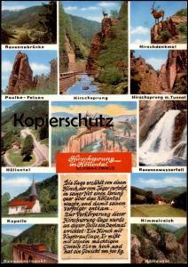 POSTKARTE HIRSCHSPRUNG HÖLLENTAL RAVENNA-VIADUKT MIT ZUG Train Eisenbahn railway b. Hinterzarten Schwarzwald Hirsch deer