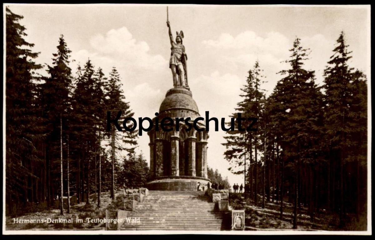ALTE POSTKARTE HERMANNS-DENKMAL IM TEUTOBURGER WALD BEI DETMOLD 1933 Hermannsdenkmal postcard cpa Ansichtskarte AK