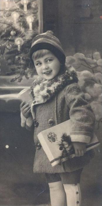 ALTE POSTKARTE WEIHNACHTEN REH KINDER KIND christmas tree child children enfant enfants Pelz cpa postcard Ansichtskarte 2