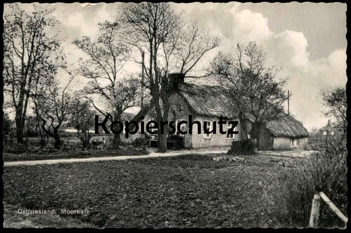 ALTE POSTKARTE OSTFRIESLAND MOORKATE Stempel Aurich Bauernhauf Bauernhof Haus farm house ferme postcard