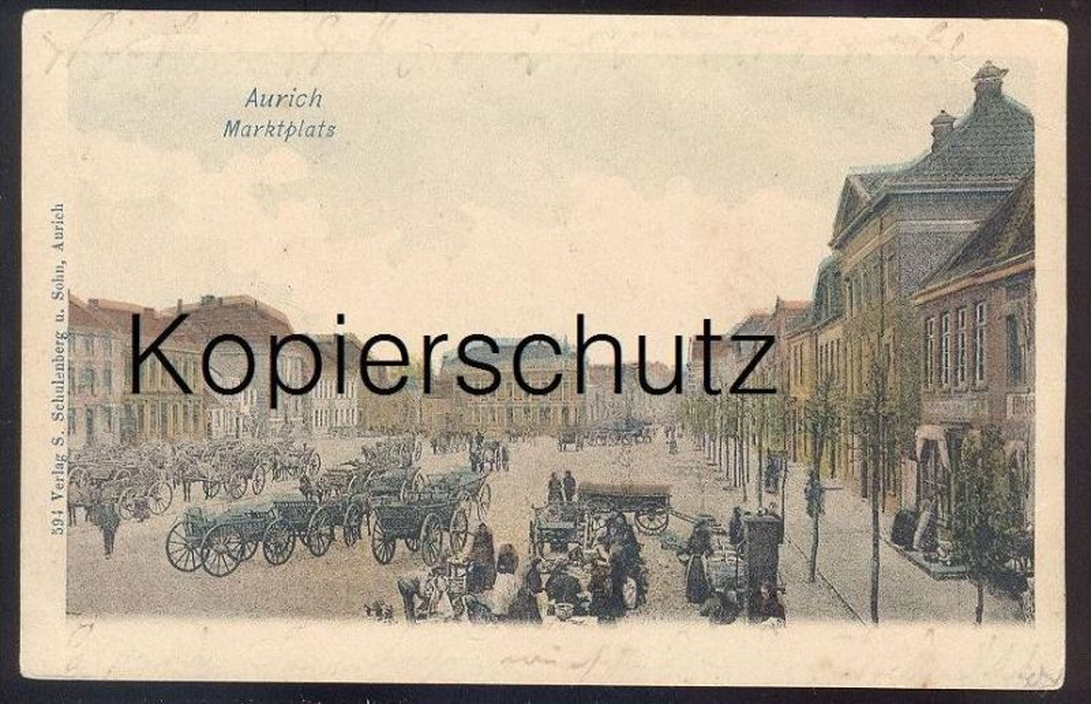 alte postkarte aurich ostfriesland marktplats marktplatz markt march market ansichtskarte ak. Black Bedroom Furniture Sets. Home Design Ideas