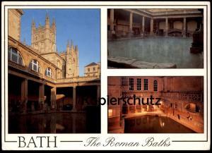 POSTKARTE SOMERSET BATH THE ROMAN BATHS Römische Bäder bain romaine Römer Romans cpa postcard AK Ansichtskarte