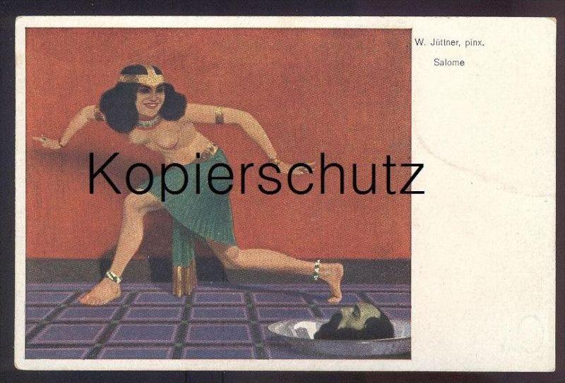 ALTE KÜNSTLER-POSTKARTE SALOME Frau femme seins nus nude breast woman nudity cpa postcard AK Ansichtskarte