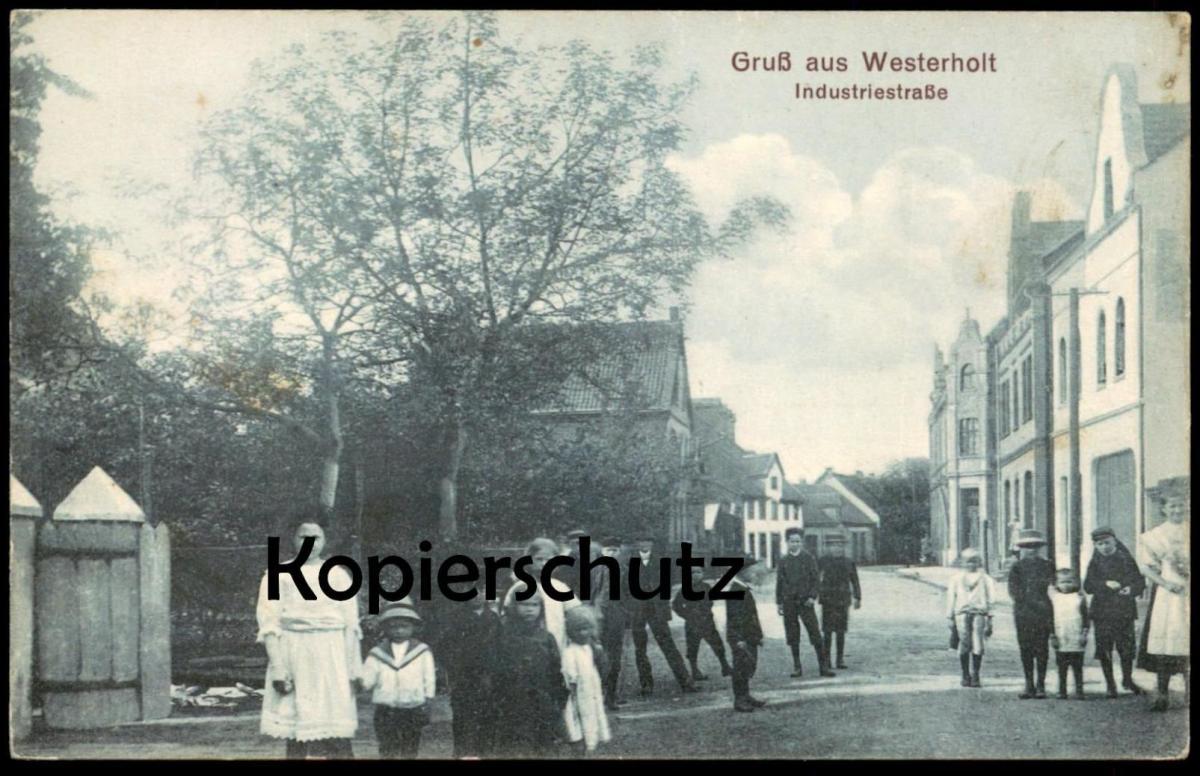 ALTE POSTKARTE GRUSS AUS WESTERHOLT INDUSTRIESTRASSE HERTEN Kinder children child enfants AK Ansichtskarte postcard cpa