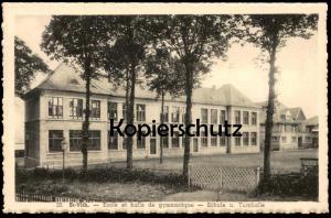 ALTE POSTKARTE ST. VITH ECOLE ET HALLE DE GYMNASTIQUE Schule & Turnhalle Ansichtskarte AK postcard cpa St-Vith