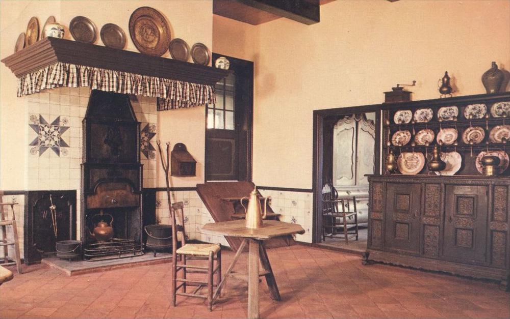 POSTKARTE KÜCHE MIT KAMIN BAUERNHAUS Haus traditional house farm ...