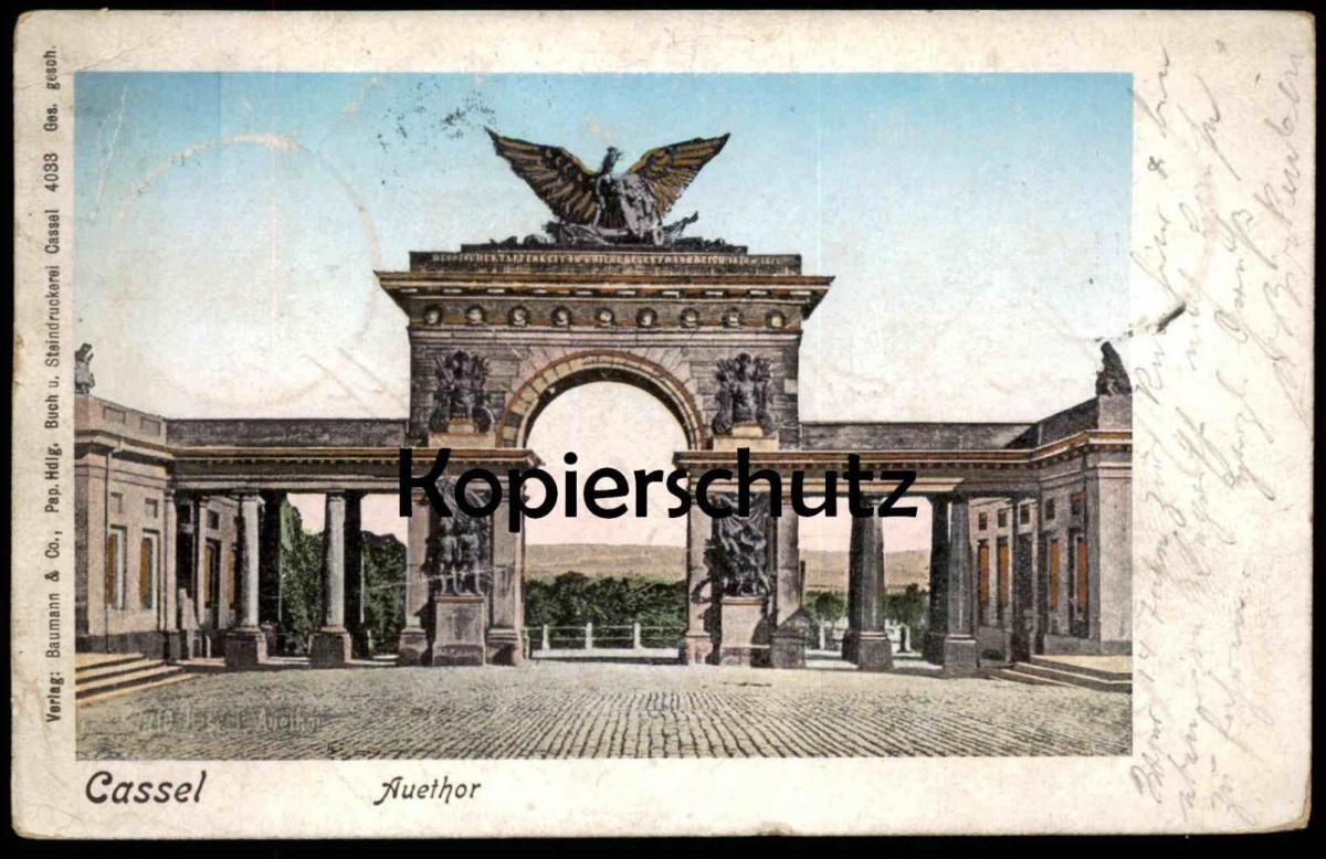 ALTE POSTKARTE CASSEL AUETHOR Auetor Tor Kassel Goldschnitt vergoldet doré gold plated gold-farben cpa postcard AK