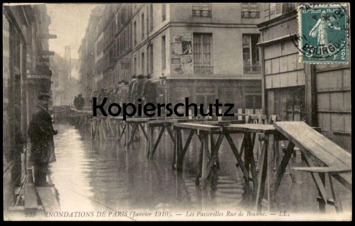 ALTE POSTKARTE PARIS HOCHWASSER 1910 Flut Flood Inondation crue Ansichtskarte postcard cpa AK